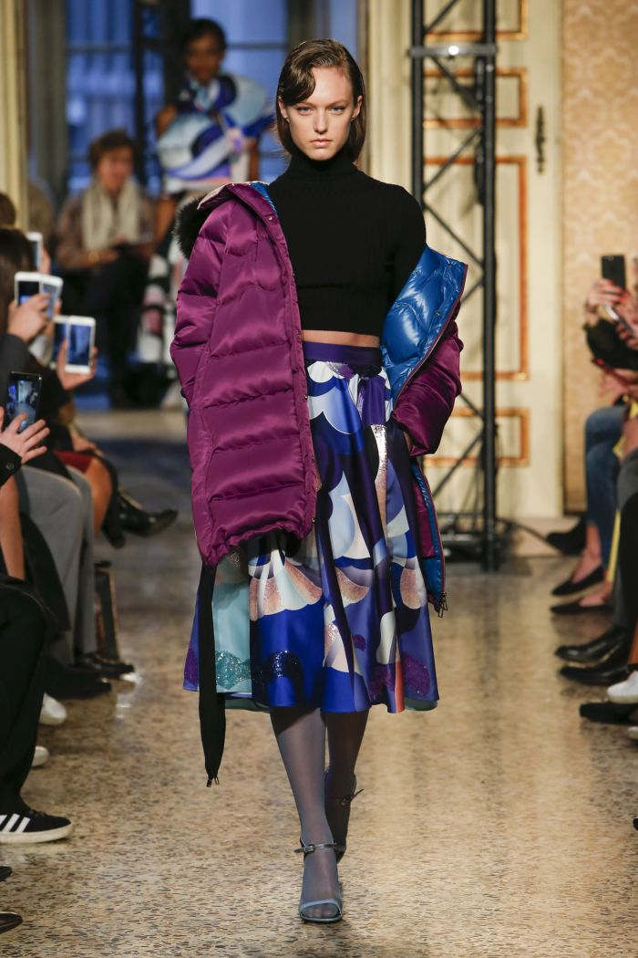 Модный женский пуховик Emilio Pucci