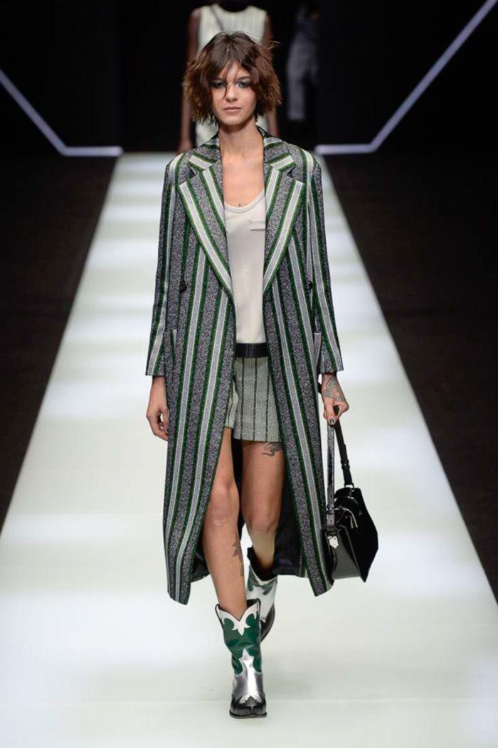 Модное пальто Emporio Armani