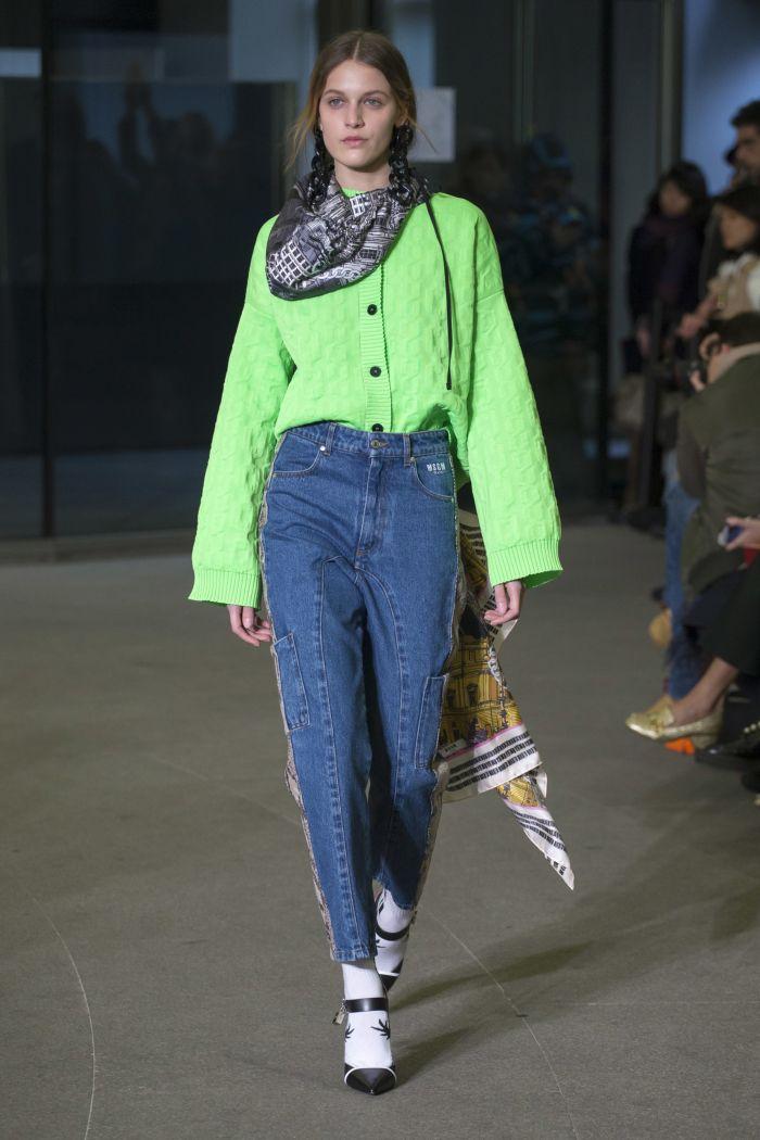 Модные женские джинсы MSGM