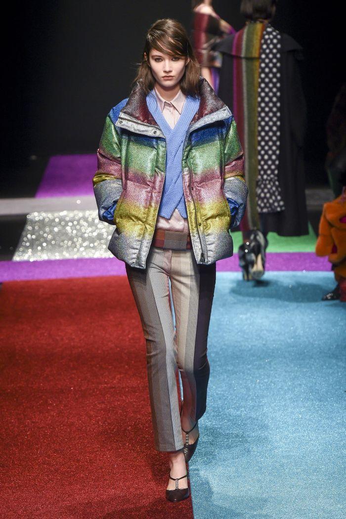 Модная серебристая куртка Marco De Vincenzo