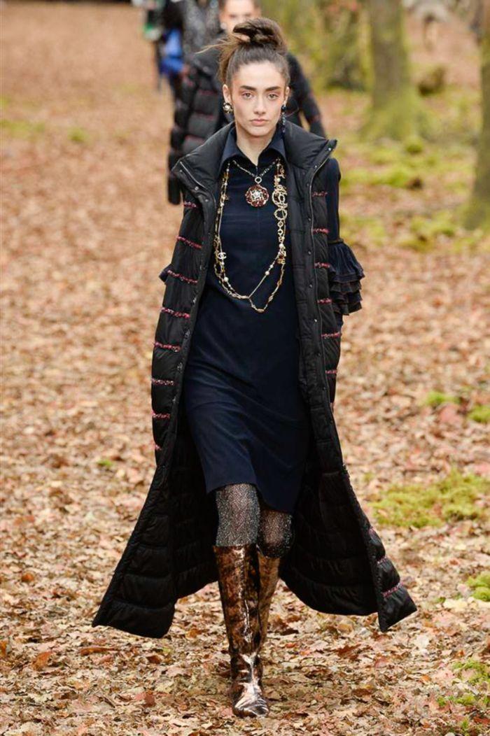Модный женский пуховик Chanel