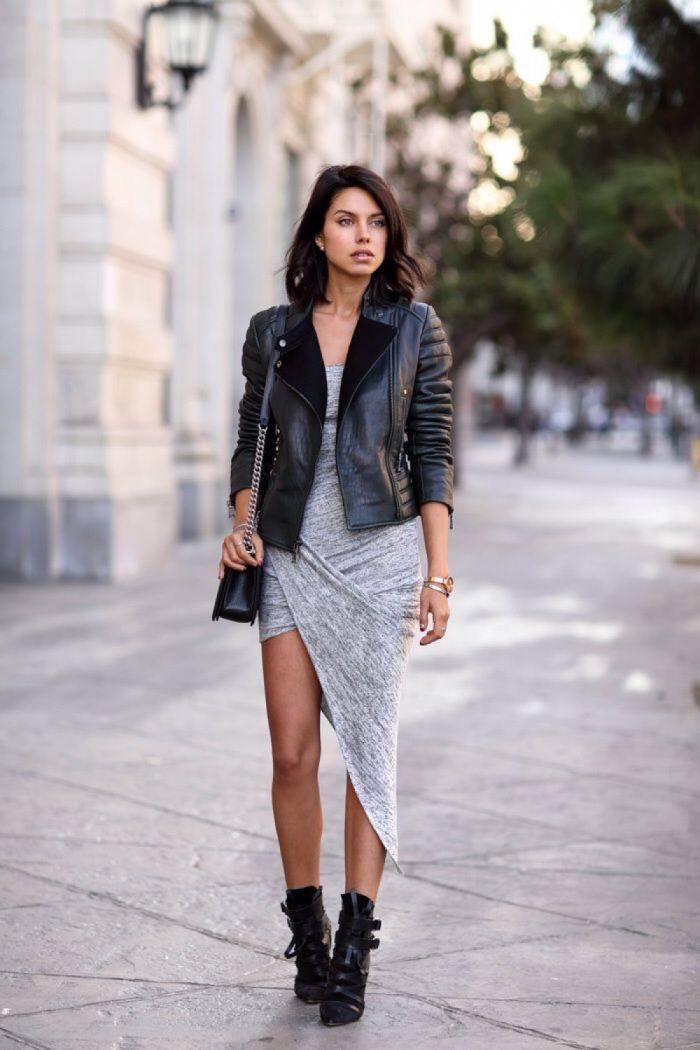С чем носить кожаную куртку