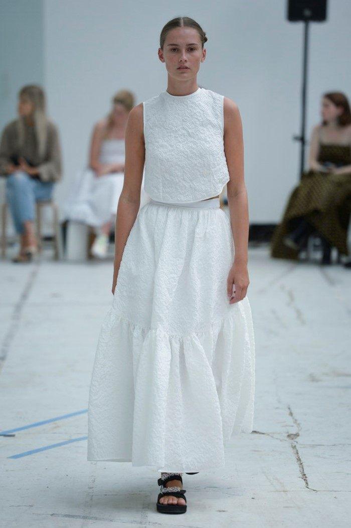 Белая юбка Cecilie Bahnsen