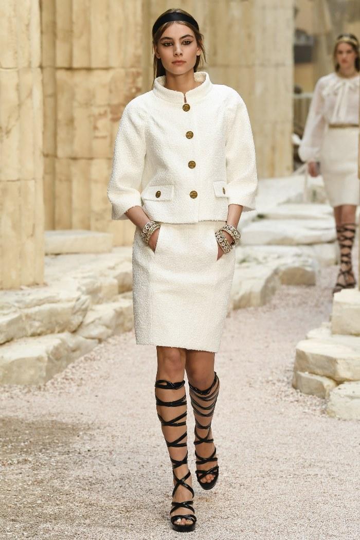 Белая юбка Chanel