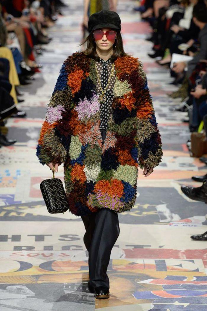 Модная шуба Christian Dior