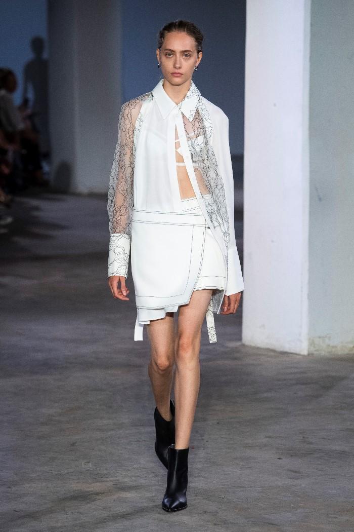Белая юбка Dion Lee