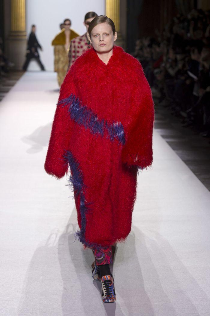 Модная шуба Dries Van Noten