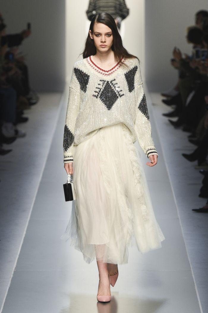 Белая юбка Ermanno Scervino