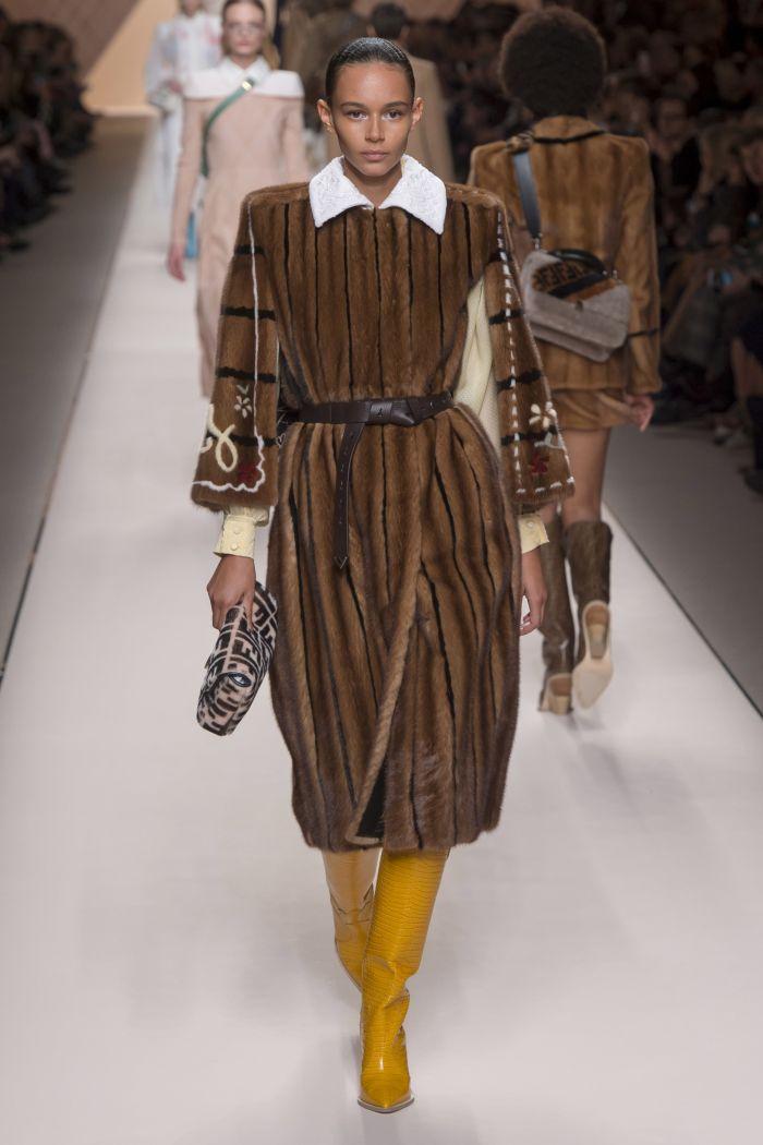 Модные шубы Fendi