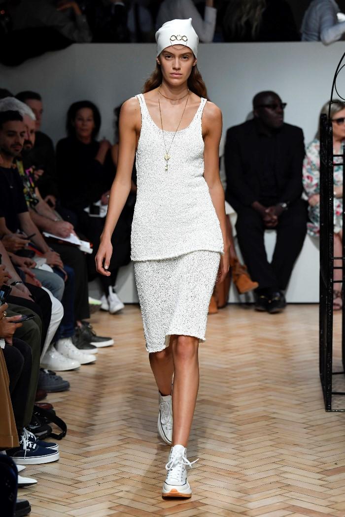 Белая юбка JW Anderson