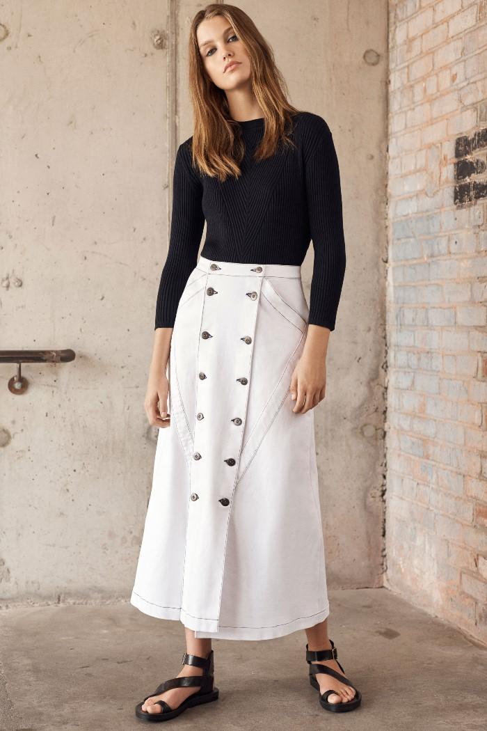Белая юбка Jason Wu