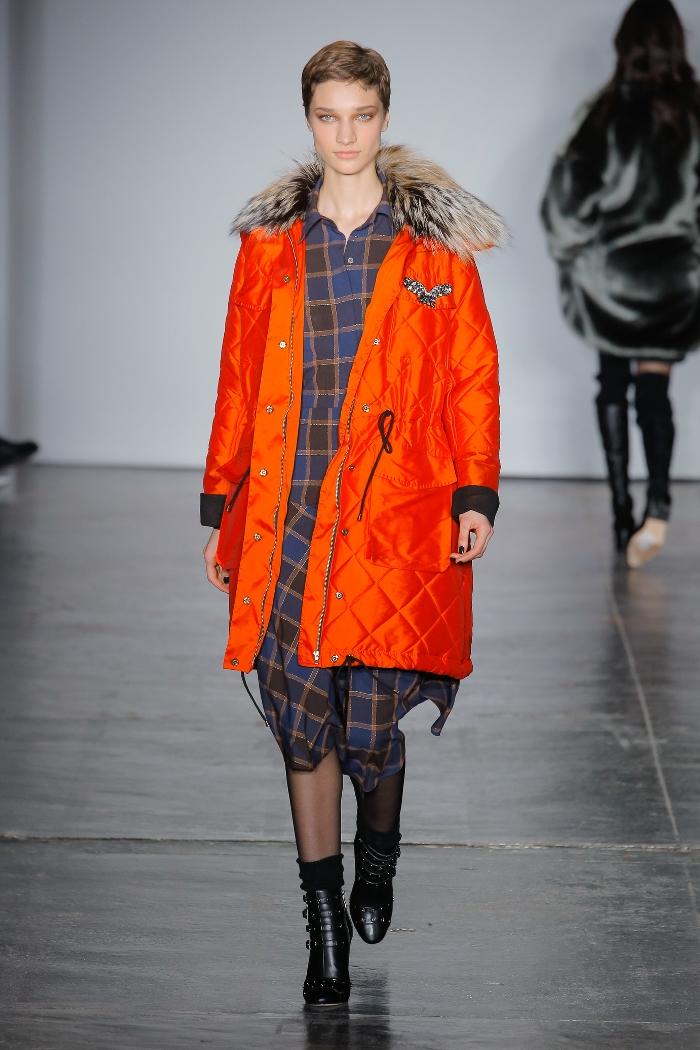 Женская куртка парка Nicole Miller