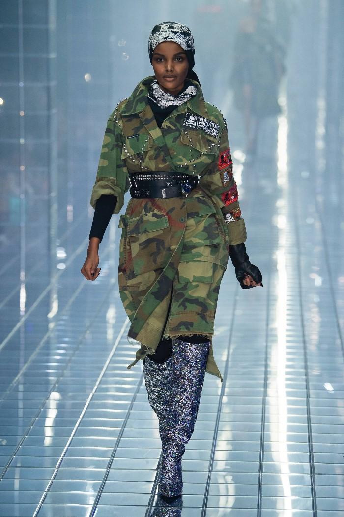 Женская куртка парка Philipp Plein