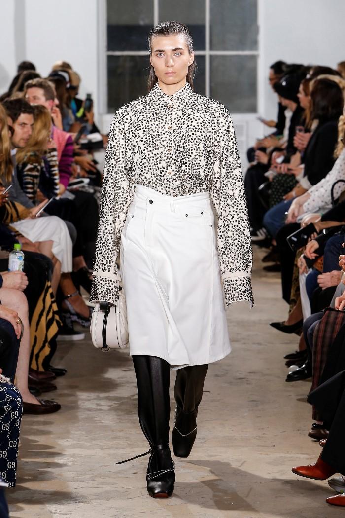 Белая джинсовая юбка Proenza Schouler