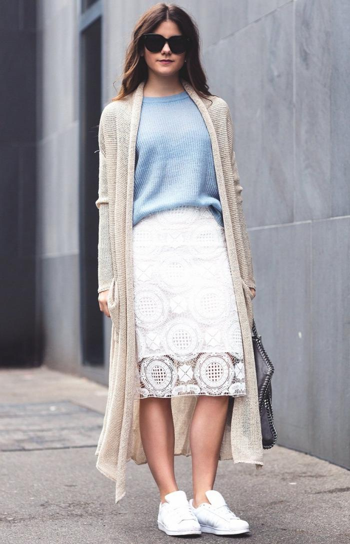С чем носить белую юбку - модные образы 2019 года