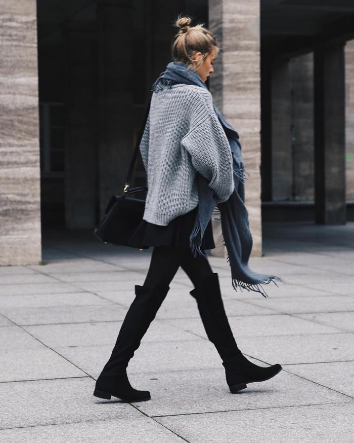 С чем носить ботфорты: модные образы сезона 2018-2019