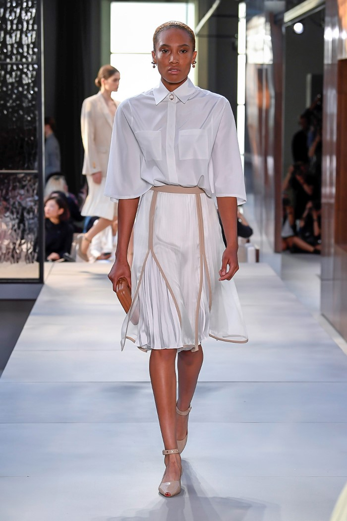 Белая юбка Burberry