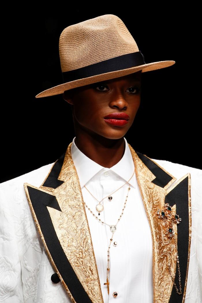 Модные женские головные уборы 2019 года. Dolce & Gabbana