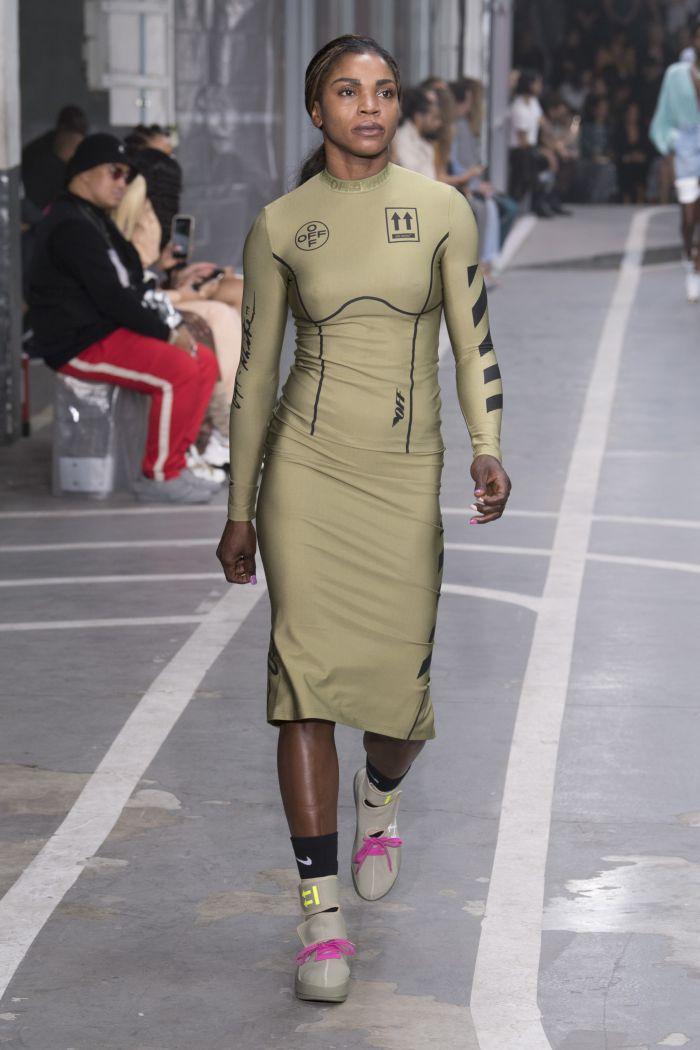 Модное платье 2019 весна-лето Off-White
