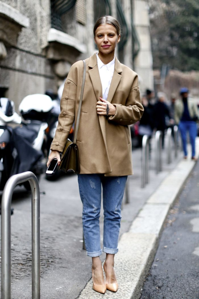 Бежевый пиджак