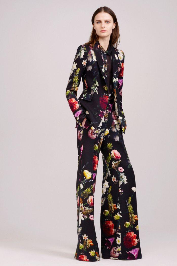 Пиджак с цветами