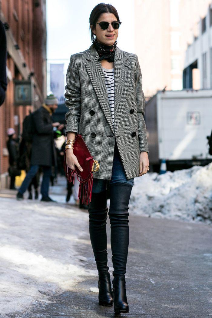 С чем носить женский пиджак в сезоне осень-зима