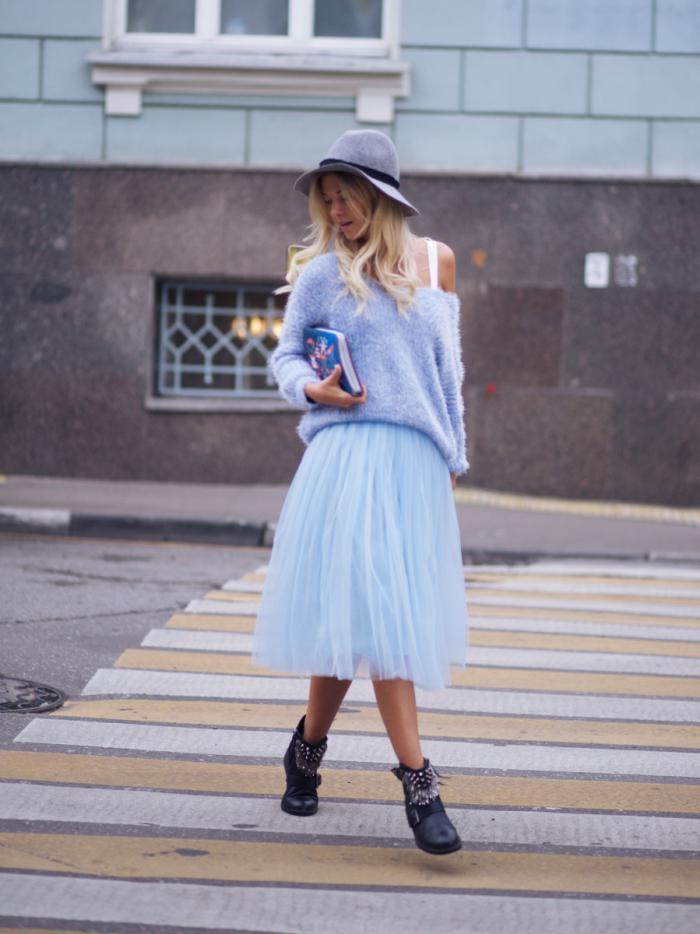 С чем носить юбку из фатина: 6 модных луков сезона