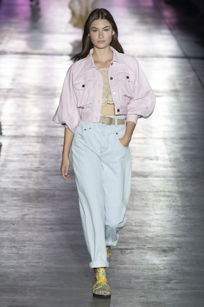 Модные джинсы 2019. Коллекция Alberta Ferretti