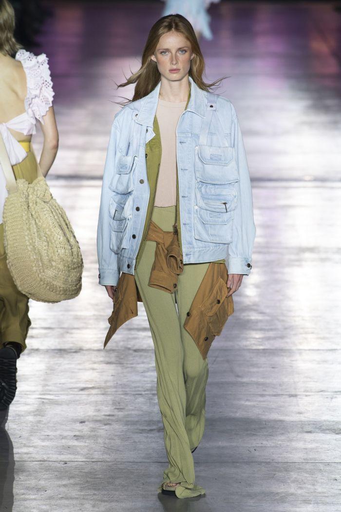 Модная одежда из денима Alberta Ferretti