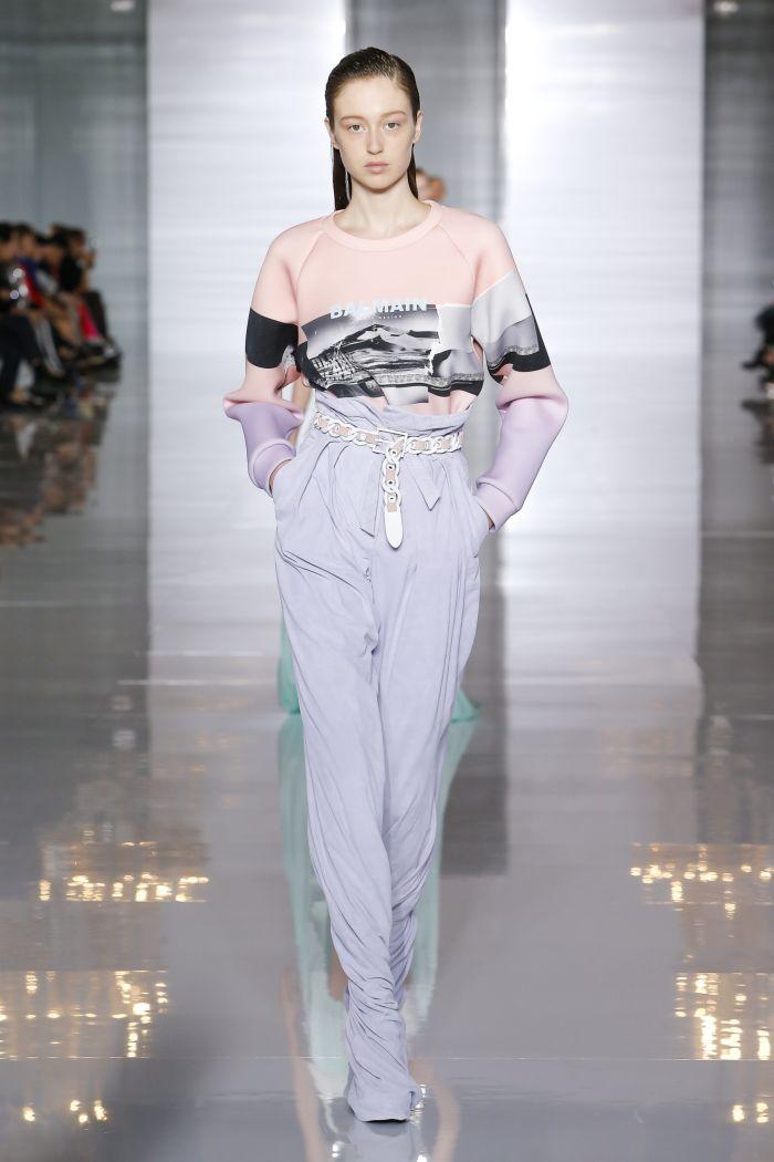 Модные брюки весна-лето 2019 из коллекции Balmain