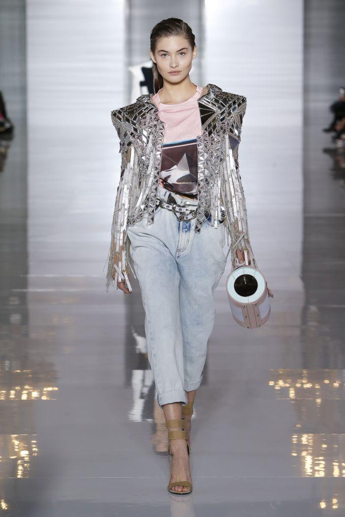Модные оттенки джинсов Balmain