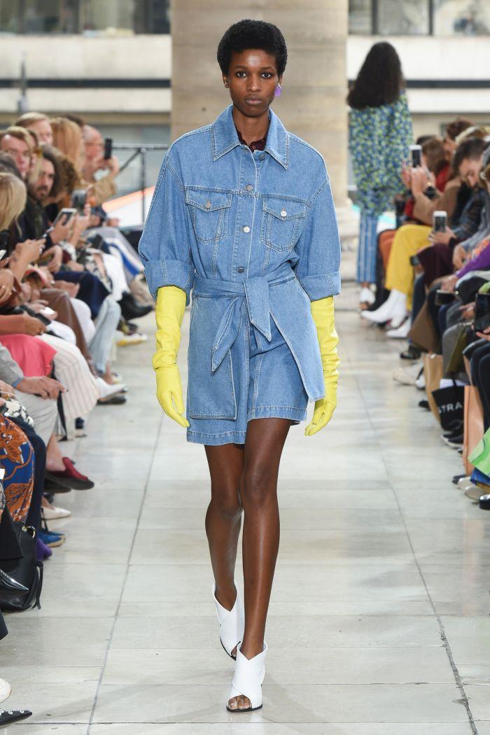 Модная джинсовая одежда Christian Wijnants