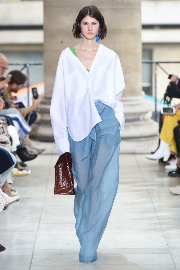 Модные брюки весна-лето 2019 из коллекции Christian Wijnants
