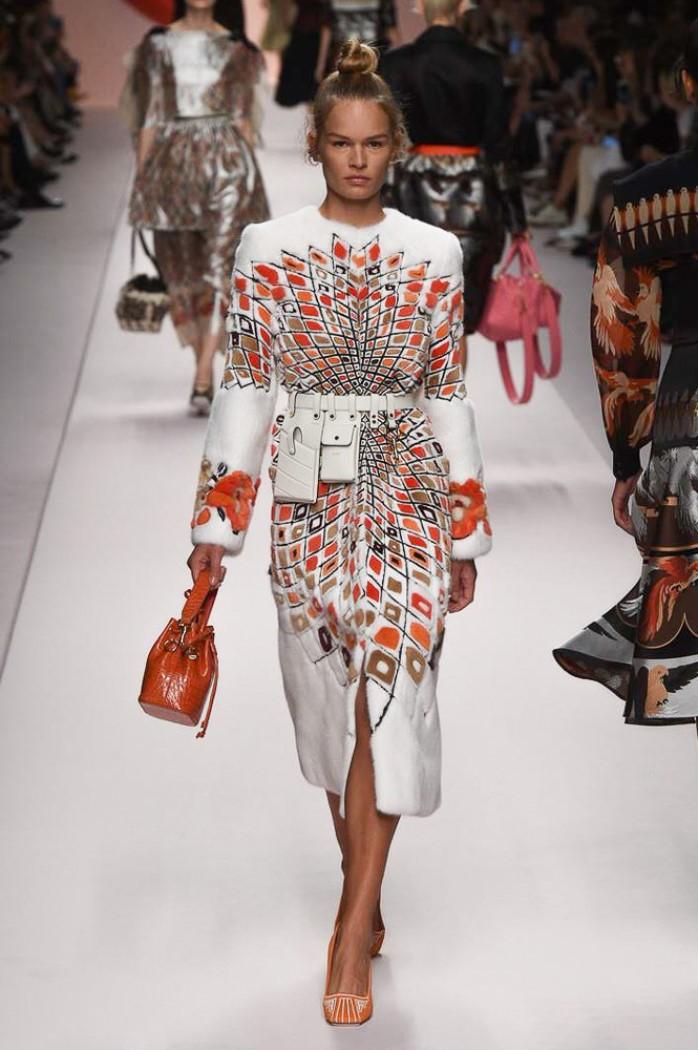 Модное пальто 2019. Коллекция Fendi