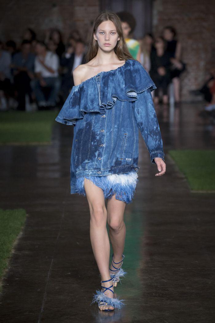 Модная джинсовая одежда MSGM