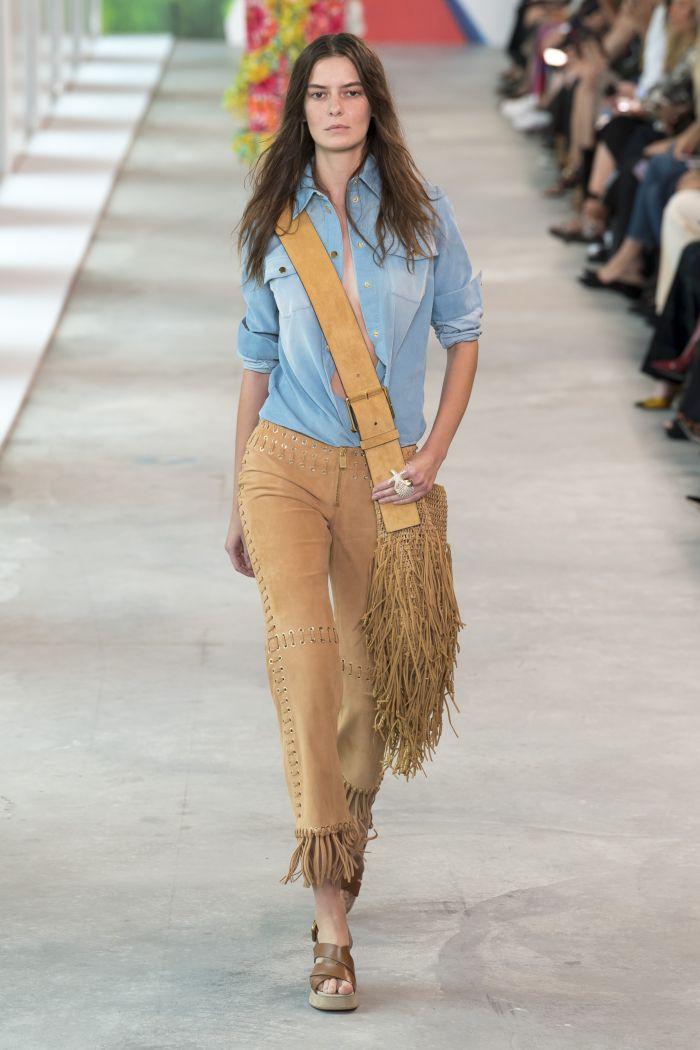 Модная джинсовая одежда Michael Kors Collection