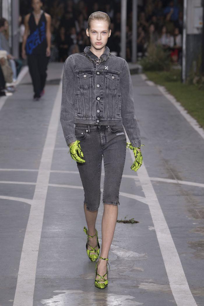 Модная джинсовая одежда Off-White