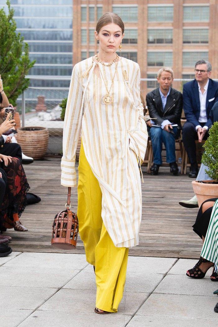 Модные брюки весна-лето 2019 из коллекции Oscar de la Renta