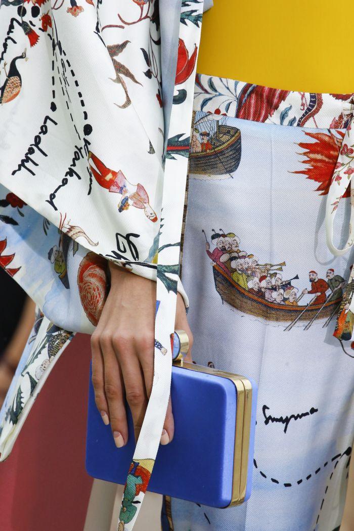 Модная женская сумка 2019 из коллекции Oscar de la Renta