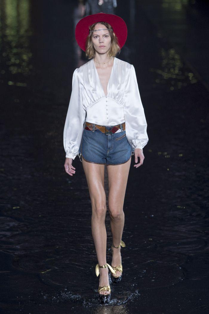 Модная джинсовая одежда Saint Laurent