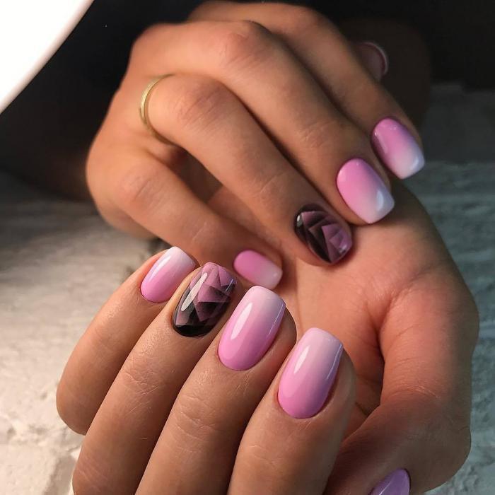 Градиент на ногтях