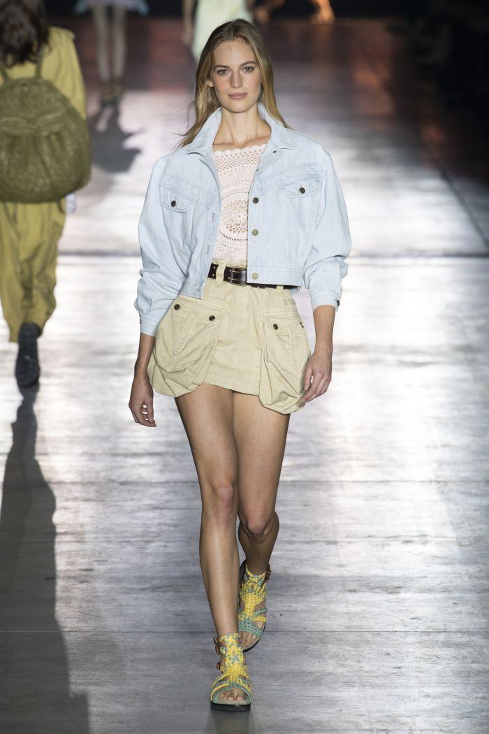 Джинсовая юбка Alberta Ferretti