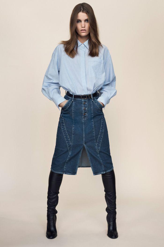 Джинсовая юбка Jason Wu
