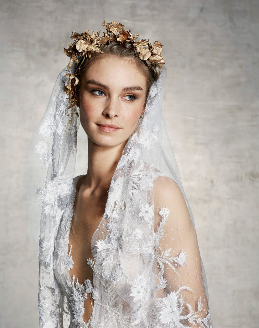 Свадебная прическа Marchesa
