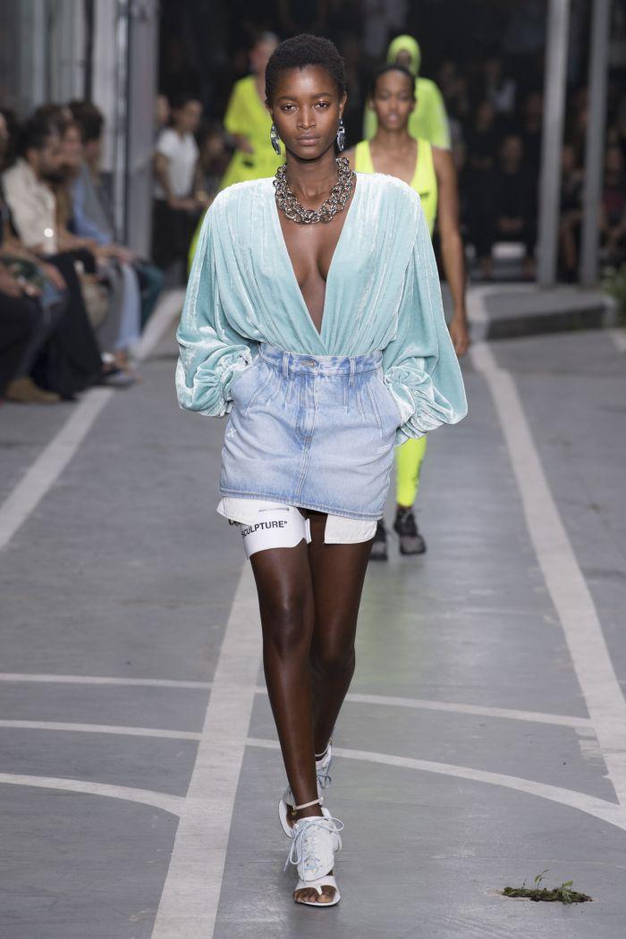 Джинсовая юбка Off-White