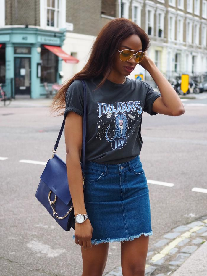 С чем носить джинсовую юбку
