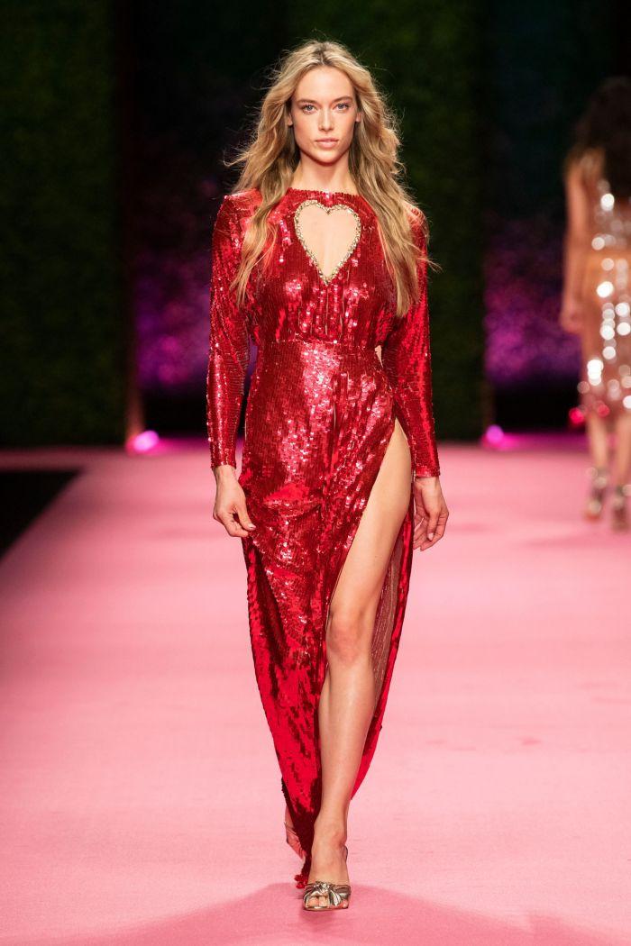 Модное красное платье Elisabetta Franchi