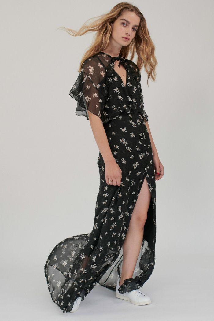 Модное черное платье Paul & Joe