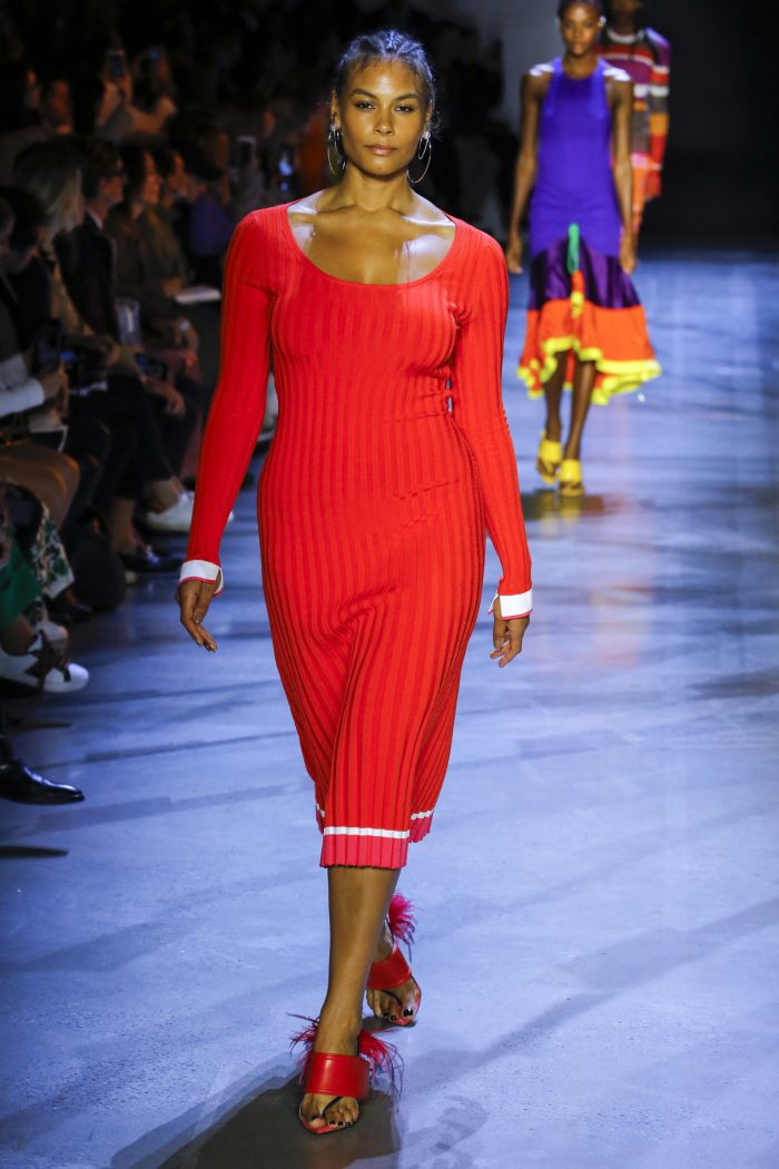 Модное красное платье Prabal Gurung