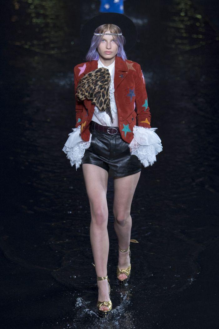 Модные шорты Saint Laurent